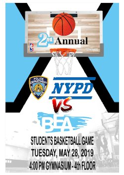 BEA students vs NYPD basketball game | Bronx Envision Academy